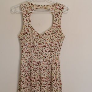 Urban Outfitters Cream Floral Dress